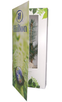 Hilton branded treemendous greeting card